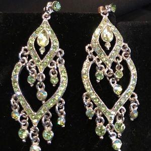 Green with envy chandelier earrings